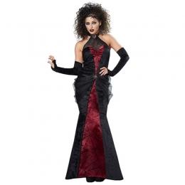 Disfraces Vampiro Bruja Araña Vestido de Negro y Rojo de Halloween