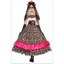 Disfraces Novia Fantasma de Miedo Vestido de Calavera de Halloween
