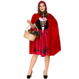 Disfraces de Caperucita Roja Tallas Grandes Estilo Fat Man de Halloween para Mujer