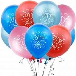 Globo de Número de 2 Años Decoración de Cumpleaños