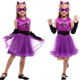 Disfraz de Niña Gato Lindo Vestido Enmascarado