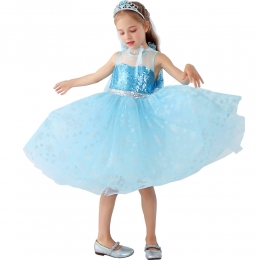 Disfraces de Elsa Vestido de Capa Frozen Halloween para Niñas