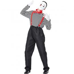 Disfraz de Actor Mimo Divertido Estilo Chaplin