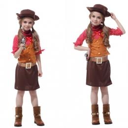 Disfraces de los Años 80 Vestido de Vaquero para Niñas