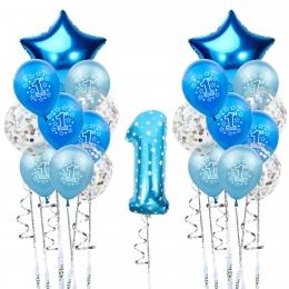Estrella Corazón Forma Conjunto Cumpleaños Globos