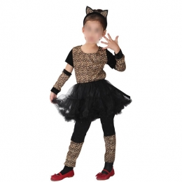Disfraz de Niña Gato Ropa de Leopardo