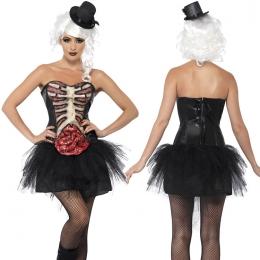 Disfraces Esqueleto Vestido Sexy Mujeres Aterradoras de Halloween