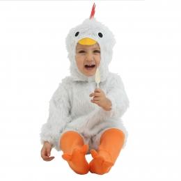 Disfraces Traje de Pollo Blanco Bebé de Halloween