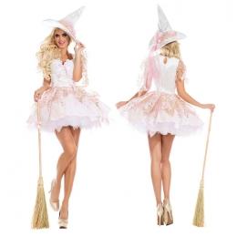 Disfraces de Bruja Vestido de Princesa Rosa Halloween