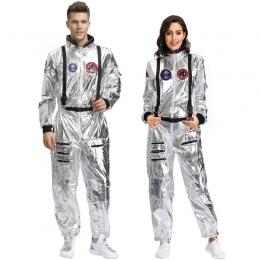 Disfraces Plateado de la Tierra Errantede Halloween para la Familia Traje Espacial