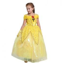 Disfraces de Princesa Belle Tutu Vestido Halloween para Niñas