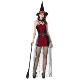 Disfraces Bruja con Vestido de Sombrero Sexy de Halloween