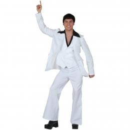 Disfraces Disco Blanco para Hombre Estilo Retro de Halloween