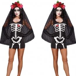 Disfraces Mueca de Esqueleto Traje de Miedo de Halloween