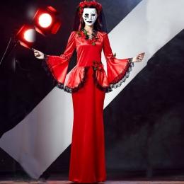 Disfraces Diablo Grim Reaper Rose Flowers Style de Halloween para Mujer