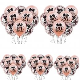 Globo Confeti Dorado Rosa Cumpleaños Decoración