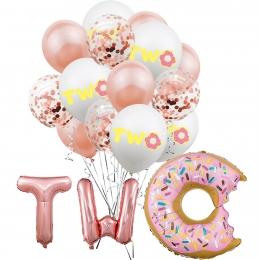 Donuts Globo Traje Cumpleaños Decoración