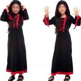 Disfraz de Bruja para Niña Gótica Roja y Negra