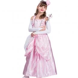 Disfraces de Palacio Hada Rosa Vestido Halloween para Niñas