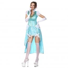 Disfraces de Sissi Vestido Azul de Lujo Halloween para Mujer