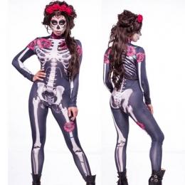 Disfraces de Zombi Mono Cráneo Aterradores Halloween