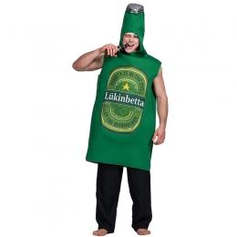 Disfraces de Forma de Botella de Cerveza Halloween para Adultos