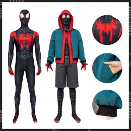 Disfraz de Spiderman Abrigo de Miles Morales - Personalizado